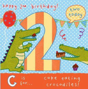 AGE 2 Giraffe Birthday Card TW058